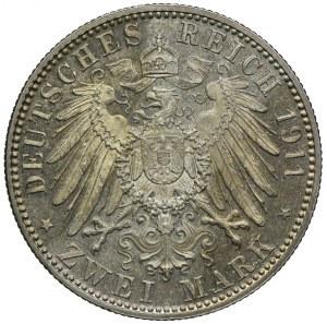 Niemcy, Bawaria, 2 marki 1911 D