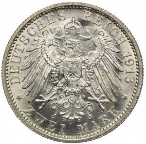 Niemcy, Prusy, 2 marki 1913 A