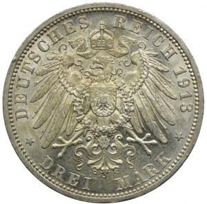 Niemcy, Prusy, 3 marki 1913, A