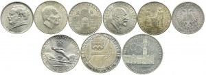 Austria, zestaw monet (9 szt.)