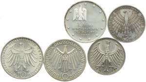 Niemcy, zestaw monet (5 szt.)