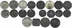 Niemcy, zestaw monet zastępczych (20 szt.)