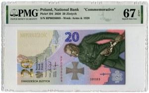 20 złotych 2020 - RP - PMG 67