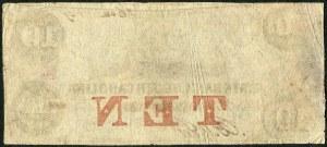 USA, banknot 10 dolarów 1854