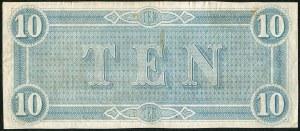 USA, banknot 10 dolarów 1864 - G -