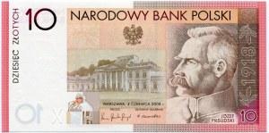 10 złotych 2008, Józef Piłsudski, Niepodległość