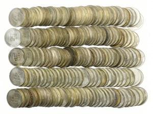 Zestaw, 200 złotych 1974 XXX Lat PRL, 200 złotych 1976 Olimpiada, (198szt.)
