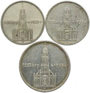 Niemcy, 2, 5 marek 1934 (3szt.)