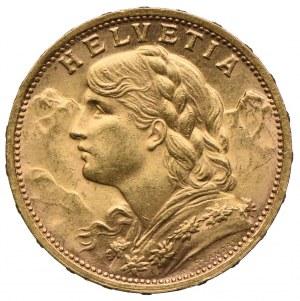 Szwajcaria, 20 franków 1927 B