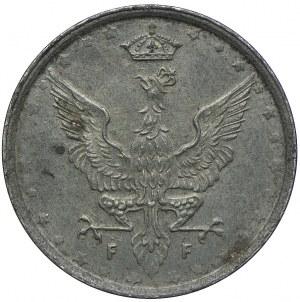 Królestwo Polskie, 10 fenigów 1917 - napis blisko obrzeża