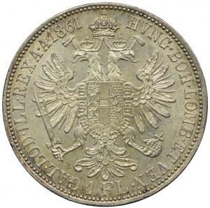 Austria, Franciszek Józef I, 1 floren 1861 Wiedeń