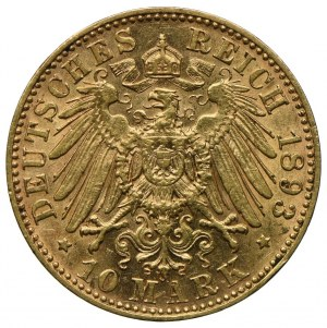 Niemcy, Saksonia, Albert, 10 marek 1893 E