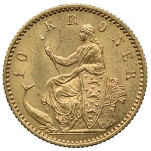 Dania, Chrystian IX, 10 koron 1900