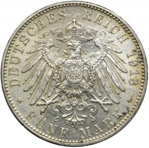 Niemcy, Bawaria, 5 marek 1913, D/Monachium