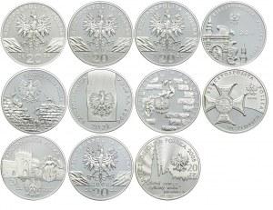 Zestaw monet, 20 złotych 2005-2009 (11szt.)