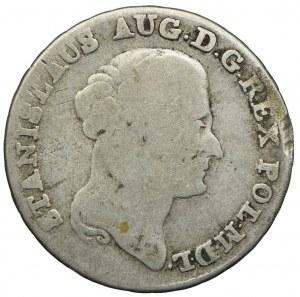 Stanisław August Poniatowski, dwuzłotówka (8 groszy) 1791 EB, Warszawa