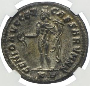 Duży follis, Rzym Konstantyn I Chlorus 293-306, NGC Ch/MS