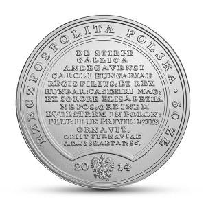 50 złotych 2014, Ludwik Węgierski, Skarby Stanisława Augusta