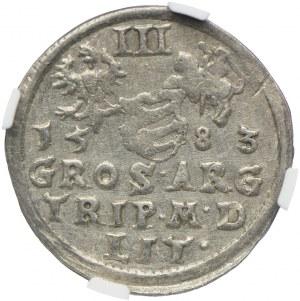 3 grosze 1583, Stefan Batory, NGC AU DETAILS