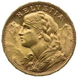 Szwajcaria, 20 franków 1935 B
