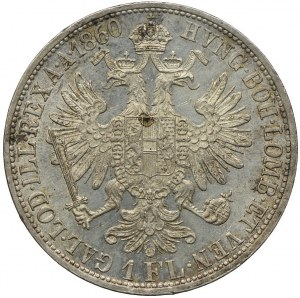 Austria, Franciszek Józef I, 1 floren 1860 A/Wiedeń