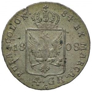 Niemcy, Prusy, Fryderyk Wilhelm III, 4 grosze 1808 G/Kłodzko