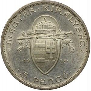 Węgry, 5 Pengö 1938 BP/Budapeszt