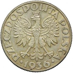5 złotych 1936, Żaglowiec