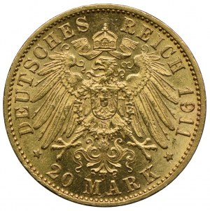 Niemcy, Badenia, Fryderyk II, 20 marek 1911 G