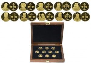 Czechy, zestaw medali, 10 sztuk (60g, Au999)