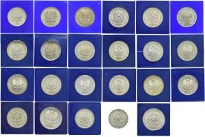Zestaw monet PRL, 1972-1989 (23szt.)