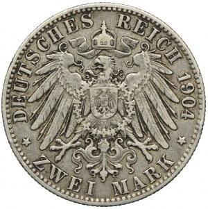 Niemcy, Hamburg, 2 marki 1904, J/Hamburg