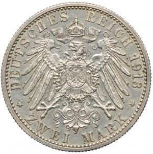 Niemcy, Badenia, 3 marki 1913, G/Karlsruhe, RZADKIE