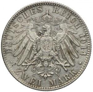 Niemcy, Bawaria, 2 marki 1914 D/Monachium