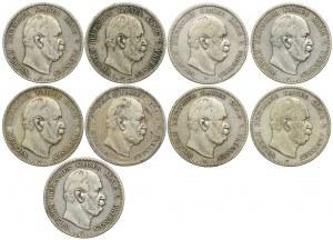 Niemcy, Prusy, 5 marek 1874-1876 (9szt.)