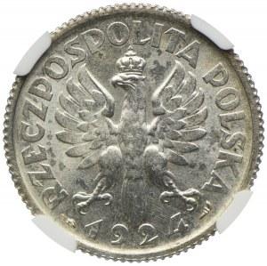 1 złoty 1924, Paryż, Kobieta i kłosy, NGC MS62