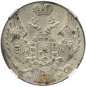 Królestwo Kongresowe, Mikołaj I, 10 groszy 1840 MW, Warszawa, NGC MS65