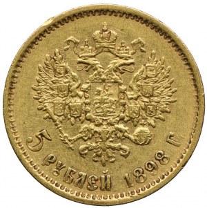 Rosja, Mikołaj II, 5 rubli 1898