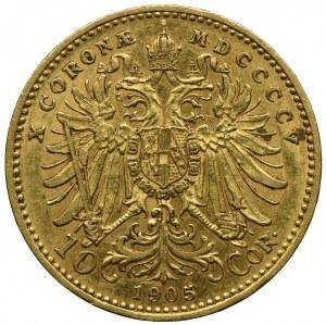 Austria, Franciszek Józef I, 10 koron 1905, Wiedeń