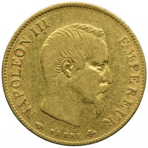 Francja, Napoleon III, 10 franków 1859, A/Paryż