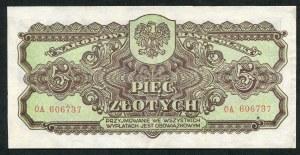 5 złotych 1944 ...owym - OA -