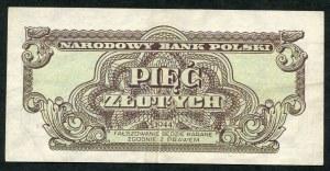 5 złotych 1944 ...owym - XB -