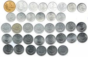 Zestaw PRL, 5, 10 groszy 1949-1981 (36szt.)
