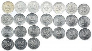 Zestaw PRL, 20 groszy 1949-1983 (24szt.)