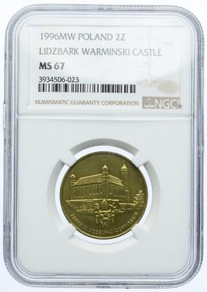 2 złote 1996, Zamek w Lidzbarku Warmińskim, NGC MS67