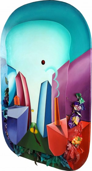 Shalom Tomas NEUMAN (ur. 1947), Decorous Detritus, z cyklu Toxic Paradise, 1991