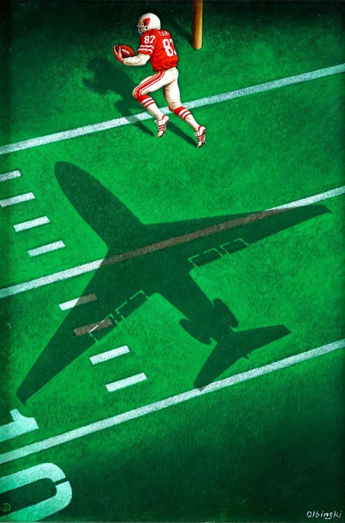 Rafał Olbiński (ur. 1943), American Airlines - kampania reklamowa, lata 80.