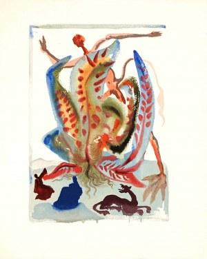 Salvador Dalí (1904-1989), Obżarstwo, z cyklu: Dante, Boska komedia, 1951-60 Czyściec, pieśń XXIII