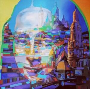 Monika Łakomska (ur. 1968), The dream of the Mona Lisa in Paris, 2021