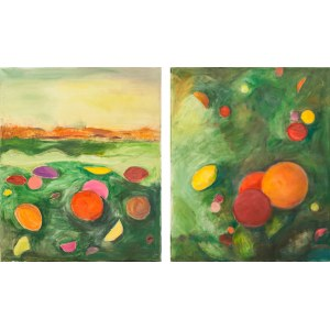 Ewa Ludwikowska (ur. 1956), Kwiaty w Branickim ogródku, dyptyk, 2019